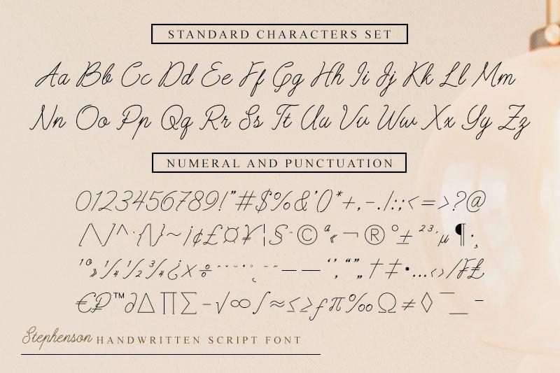 stephenson-script-font