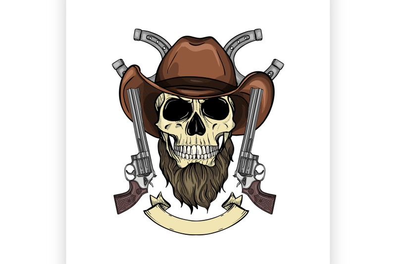 color-skull-with-cowboy