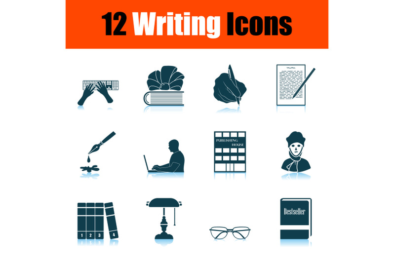 writing-icon-set