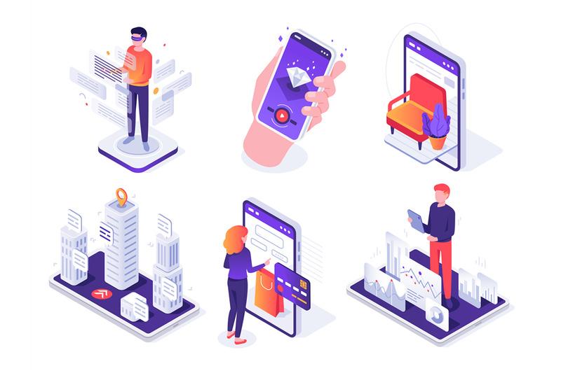 isometric-augmented-reality-smartphone-mobile-ar-platform-virtual-ga