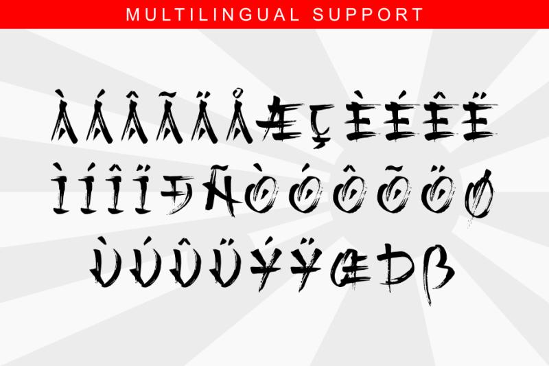 kashima-japanese-brush-font