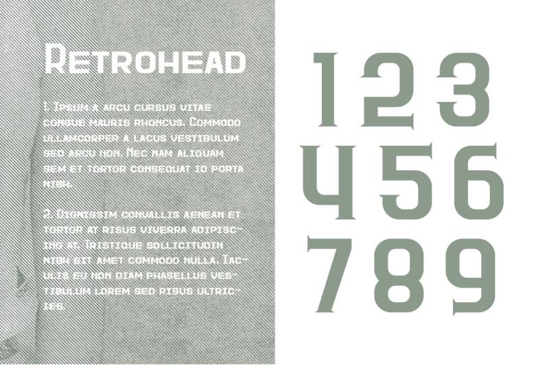 retrohead-typeface