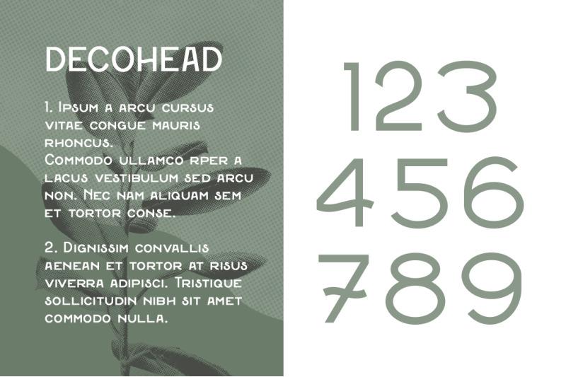 decohead-typeface