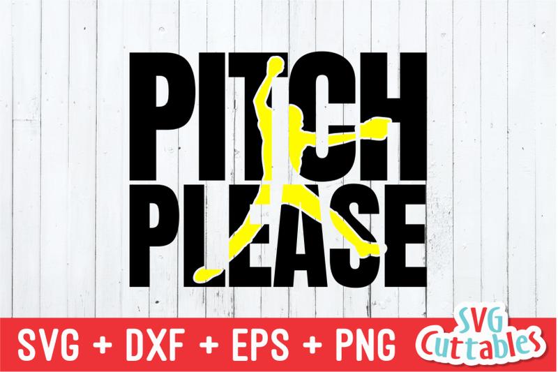 pitch-please-softball-svg-cut-file