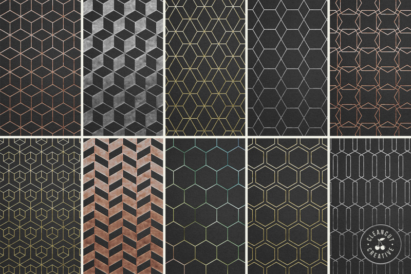 20 geometric single line patterns