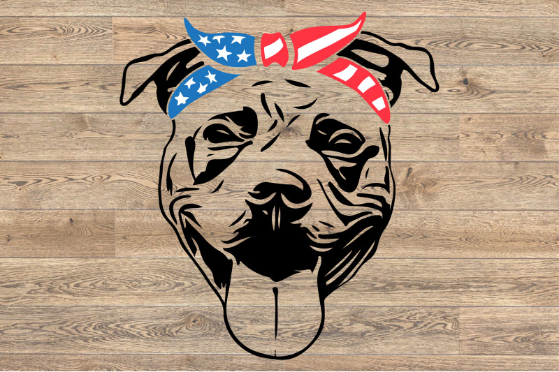 pit-bull-usa-bandana-united-states-flag-patriotic-puppy-pitbull-1393s