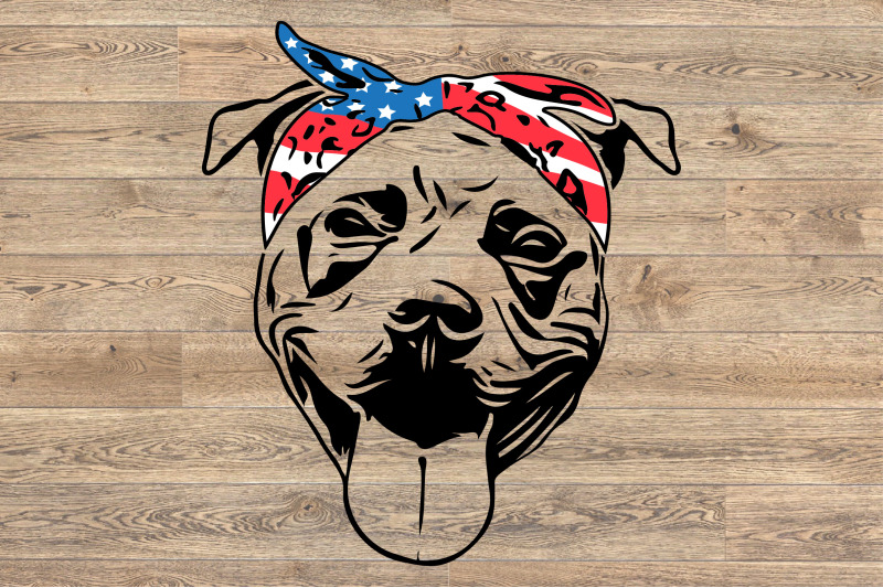 pit bull usa bandana merica 4th july patriotic puppy