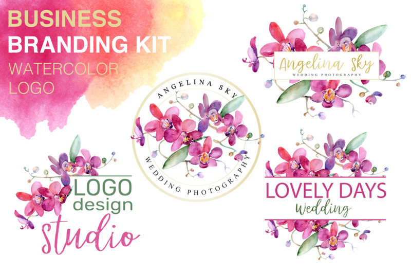 logo-with-pink-orchids-watercolor-png