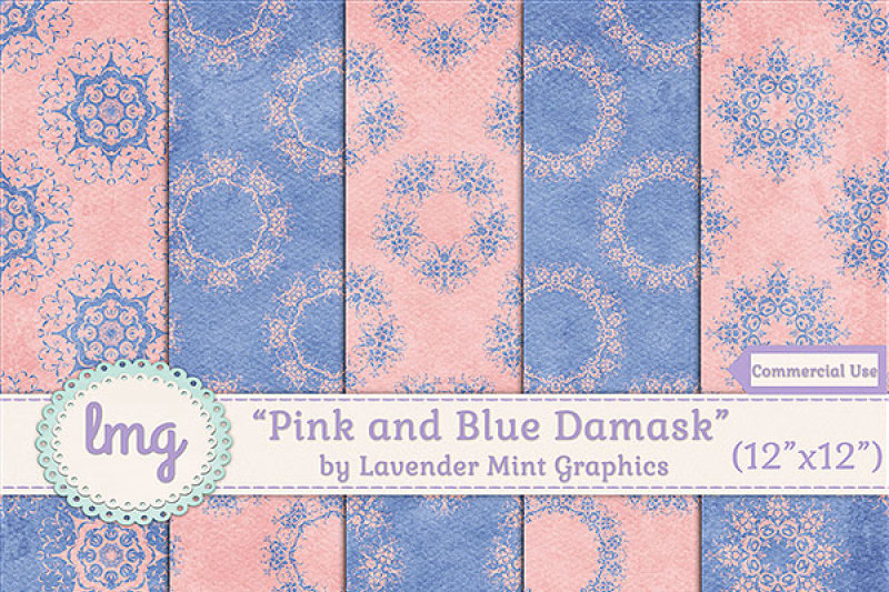 pink-and-blue-damask-papers