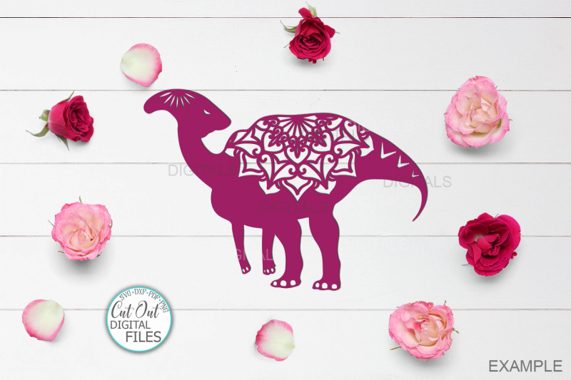 Mandala Floral Dinosaurs Bundle Cut Out Templates Svg Dxf Pdf By