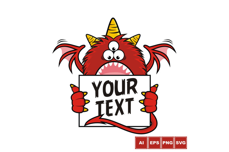 red-monster-text-box