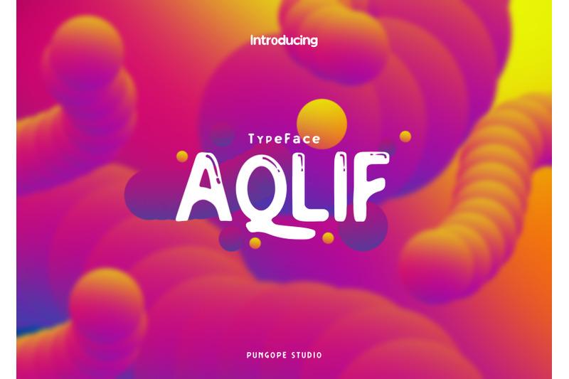 aqlif-typeface
