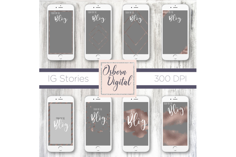 grey-and-rosegold-story-template