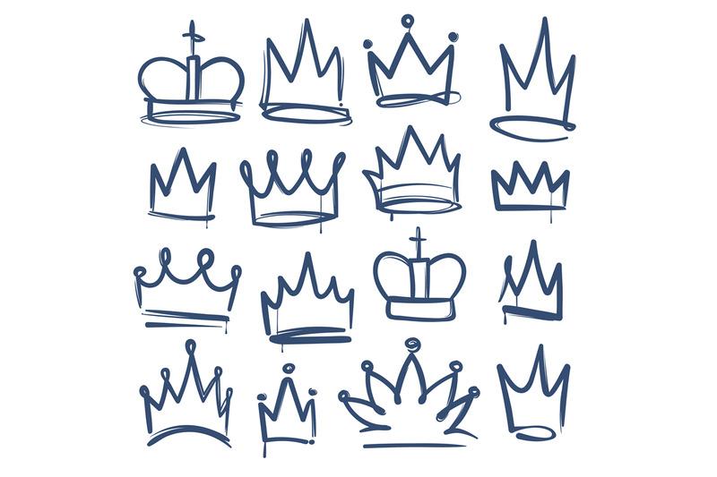 doodle-crown-kingdom-tiaras-crowns-king-queen-corona-princess-diadem
