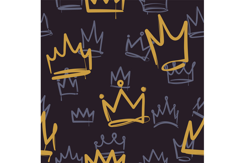 sketch-crown-pattern-seamless-print-texture-girl-princess-crowns-luxu