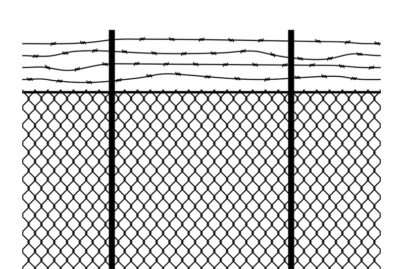 prison-fence-seamless-pattern-metal-fence-wire-military-wall-linkage