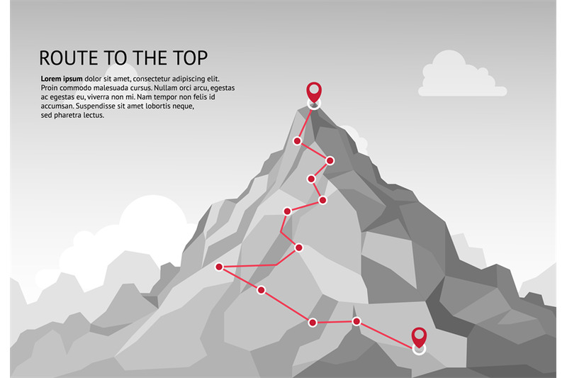 mountain-route-infographic-journey-challenge-path-business-goal-caree