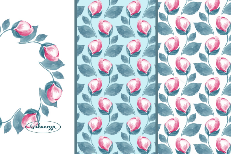 wreath-and-pattern-watercolor