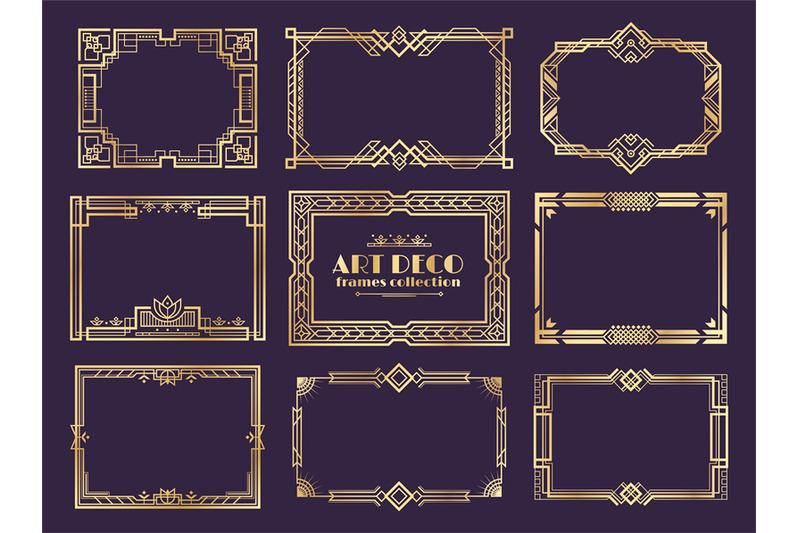 art-deco-borders-1920s-golden-frames-nouveau-fancy-decorative-elemen