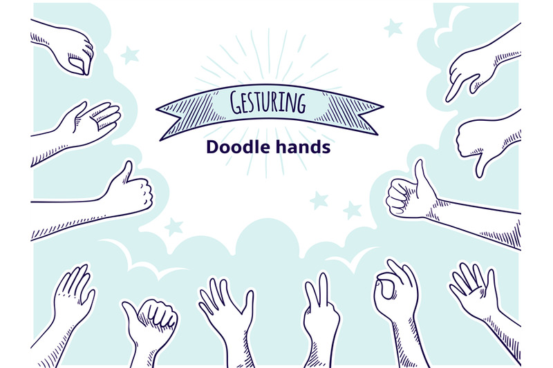 doodle-hands-like-dislike-happy-client-hand-drawn-concept-thumb-up-a