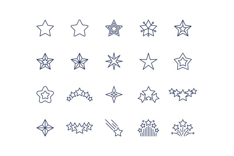 star-line-icons-premium-sparkle-symbols-set-falling-shooting-stars-f