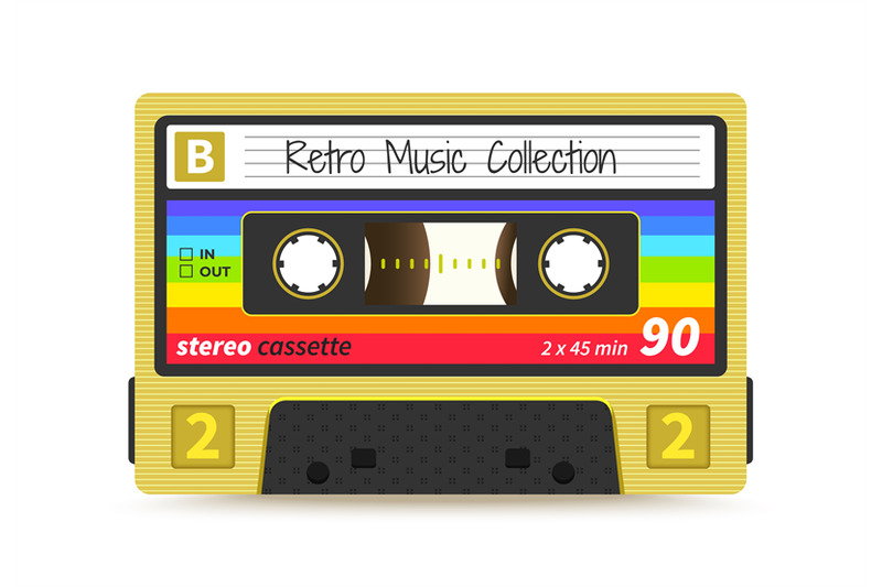 retro-cassette-vintage-1980s-mix-tape-stereo-sound-record-technology