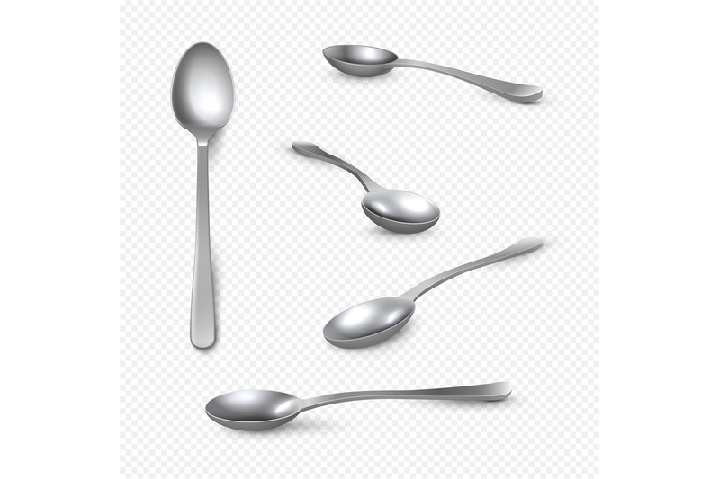realistic-metal-spoon-3d-silver-teaspoon-isolated-on-white-stainless