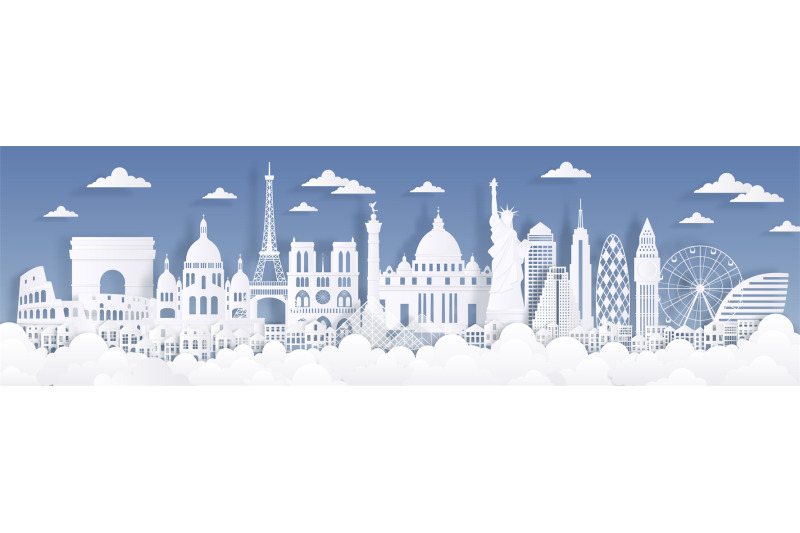 paper-cut-landmarks-travel-the-world-background-skyline-advertising