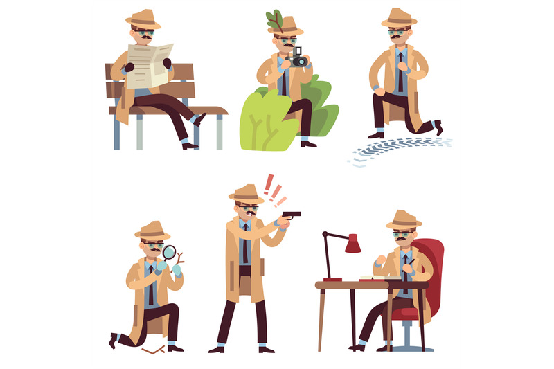 cartoon-detective-character-spy-looking-eyes-magnifier-private-agent