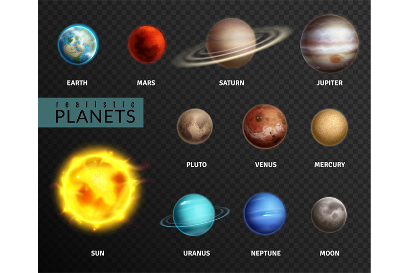 Realistic Planets  Solar System Planet Space Universe