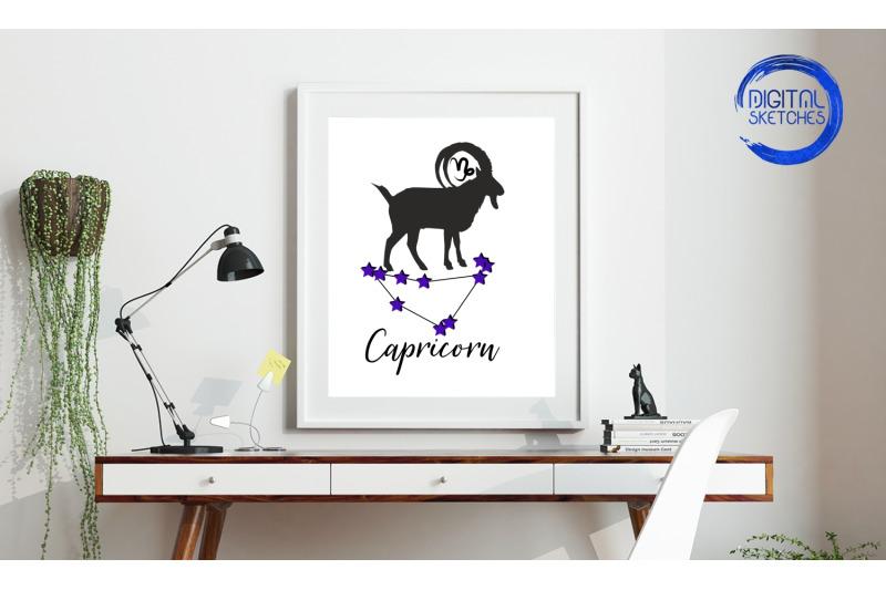 capricorn-zodiac-wall-art-beautiful-printable-wall-art-home-decor