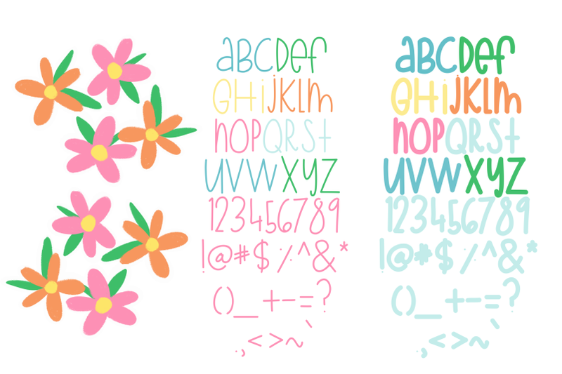 summer-flower-bucket-font