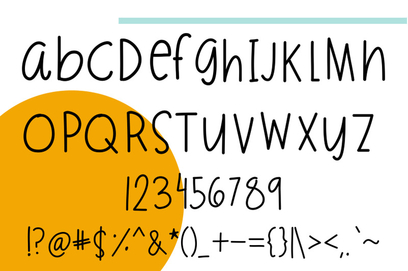 cuteness-font-painted-stickers