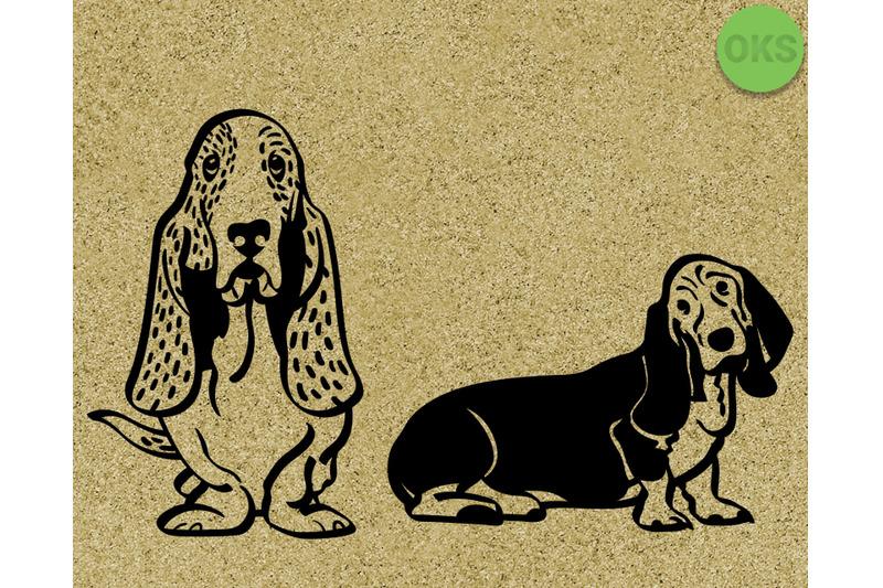 basset-hound-svg-dxf-eps-vector-file