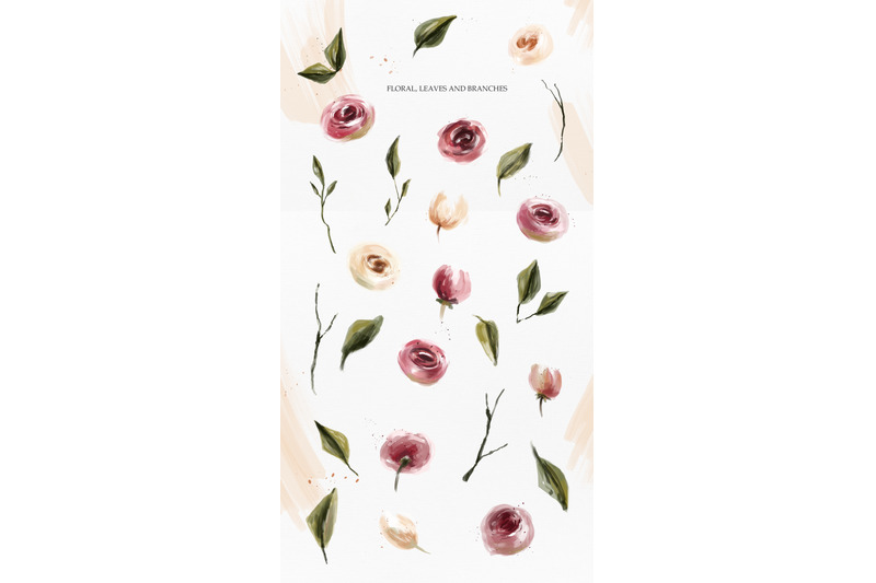 pink-oil-flowers-collection