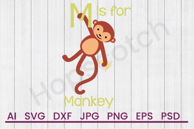 m-for-monkey-svg-file-dxf-file