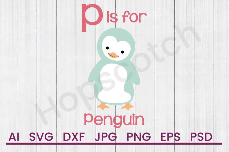 p-for-penguin-svg-file-dxf-file