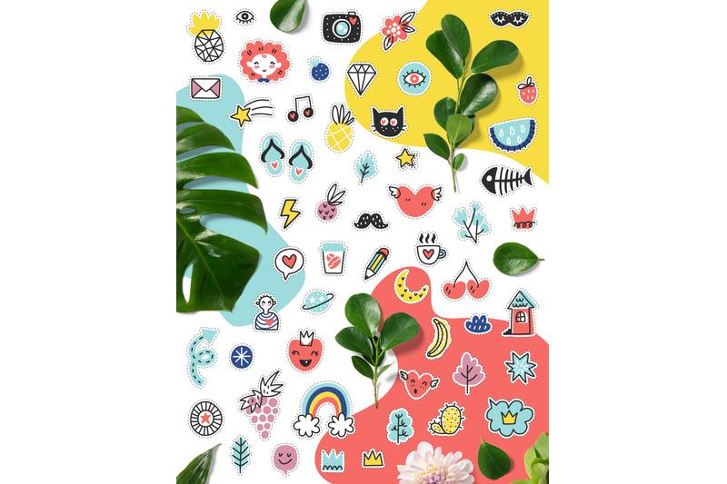 hello-summer-doodles-clipart-set