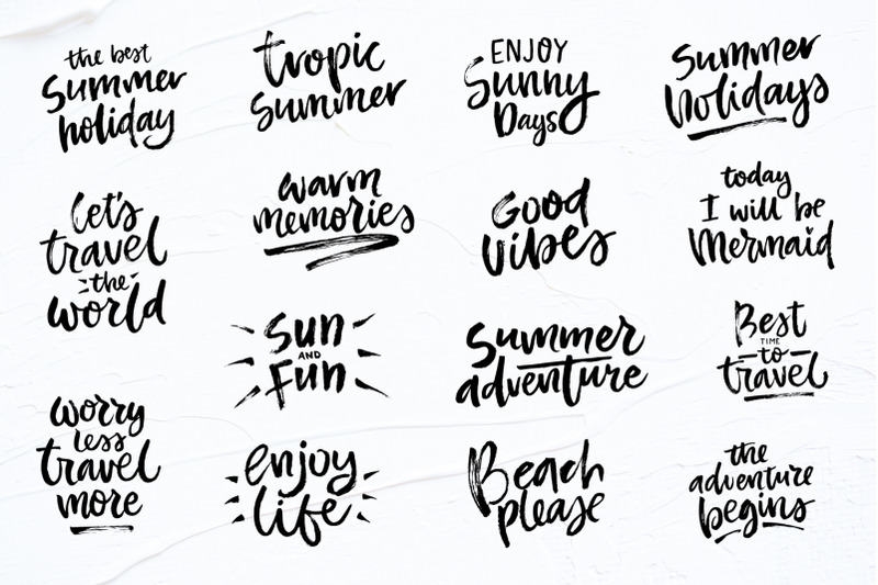 Summer Lettering Quotes Collection By Qilli Design Thehungryjpeg Com