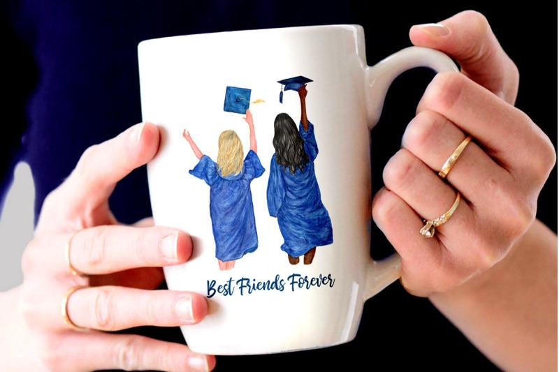 graduation-clipart-graduating-girls-watercolor-clipart