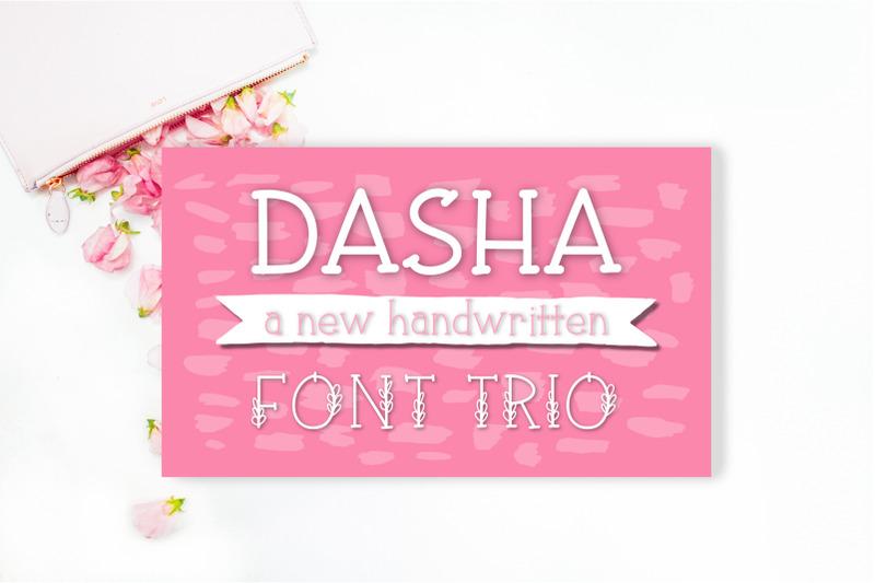 dasha-font-trio