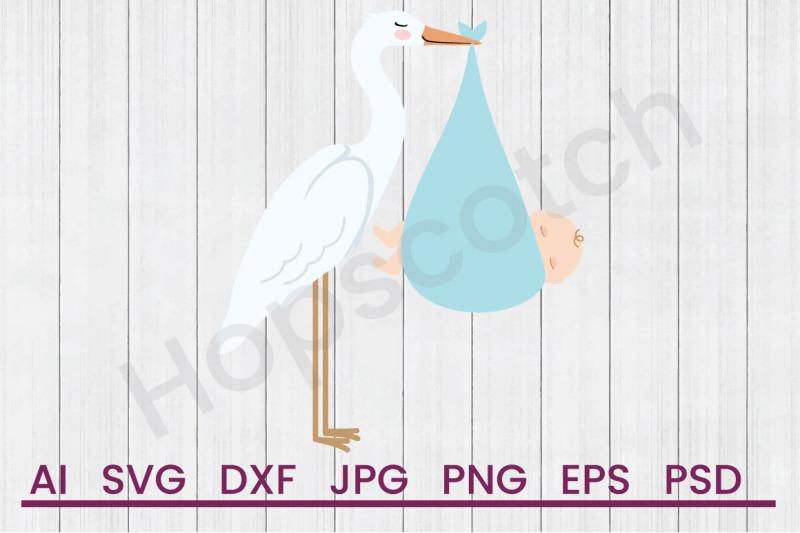 stork-baby-svg-file-dxf-file