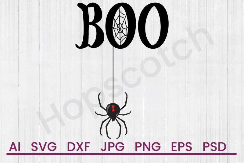 boo-spider-svg-file-dxf-file