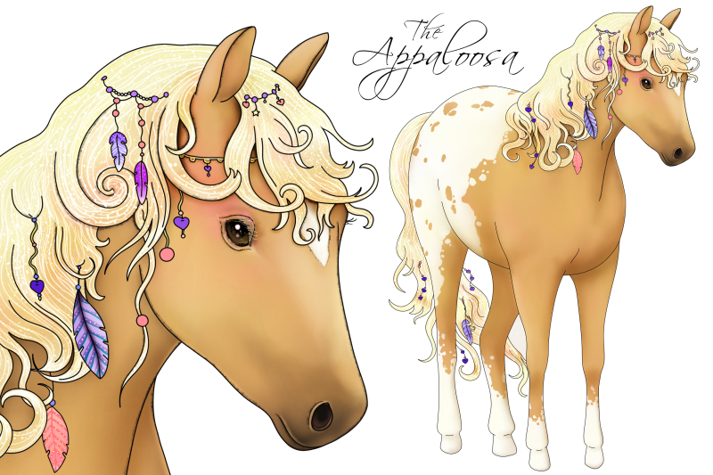 the-love-horse-magical-clip-art-set-png-jpeg-illustrations