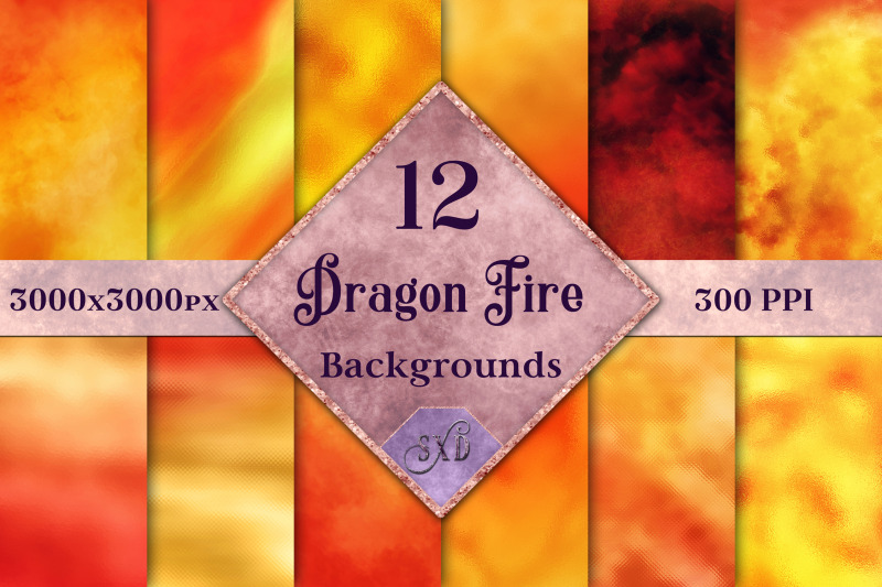 dragon-fire-backgrounds-12-image-textures-set