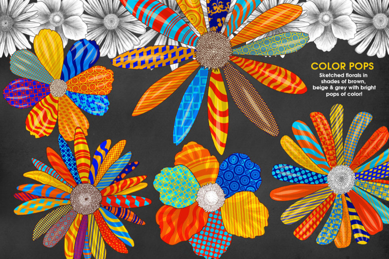 vivid-pop-color-flowers-clipart-set