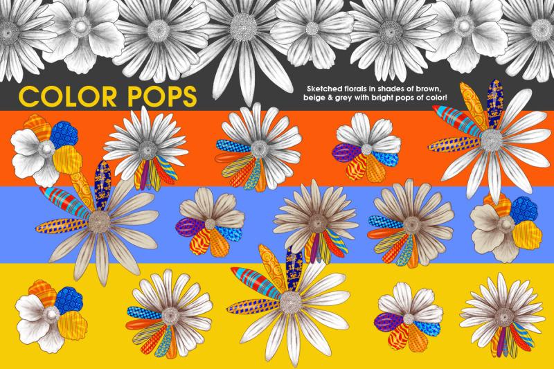 vivid-pop-color-flowers-clipart-set