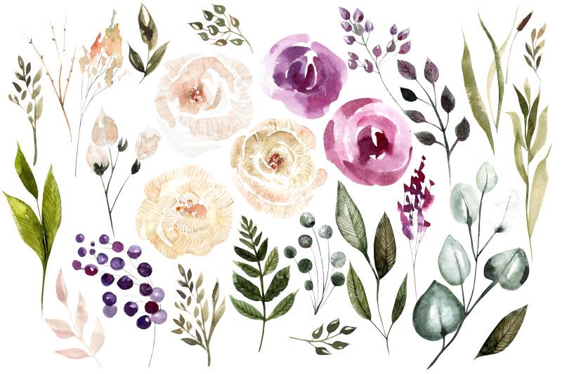 watercolor-blooming-flowers