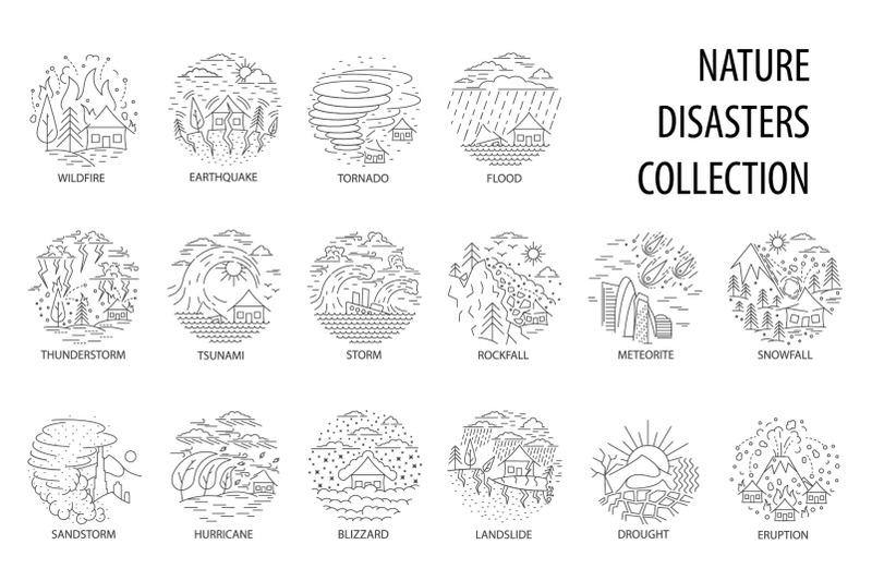 natural-disaster-in-linear-style