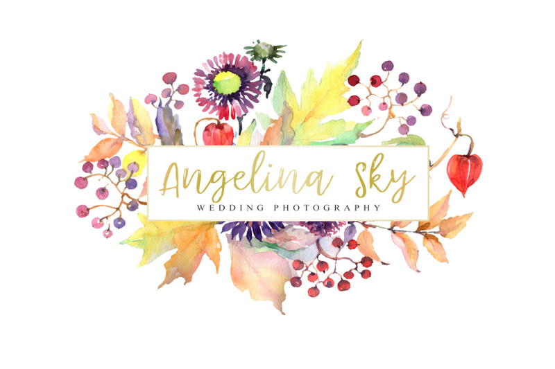 logo-with-asters-maple-leaves-and-physalis-watercolor-png